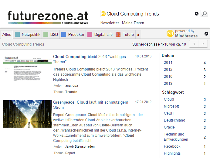 Facetten auf futurezone.at