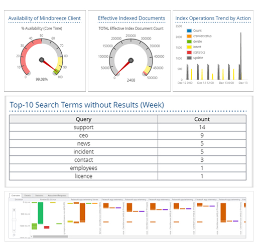 Overview of the Mindbreeze Management Dashboard