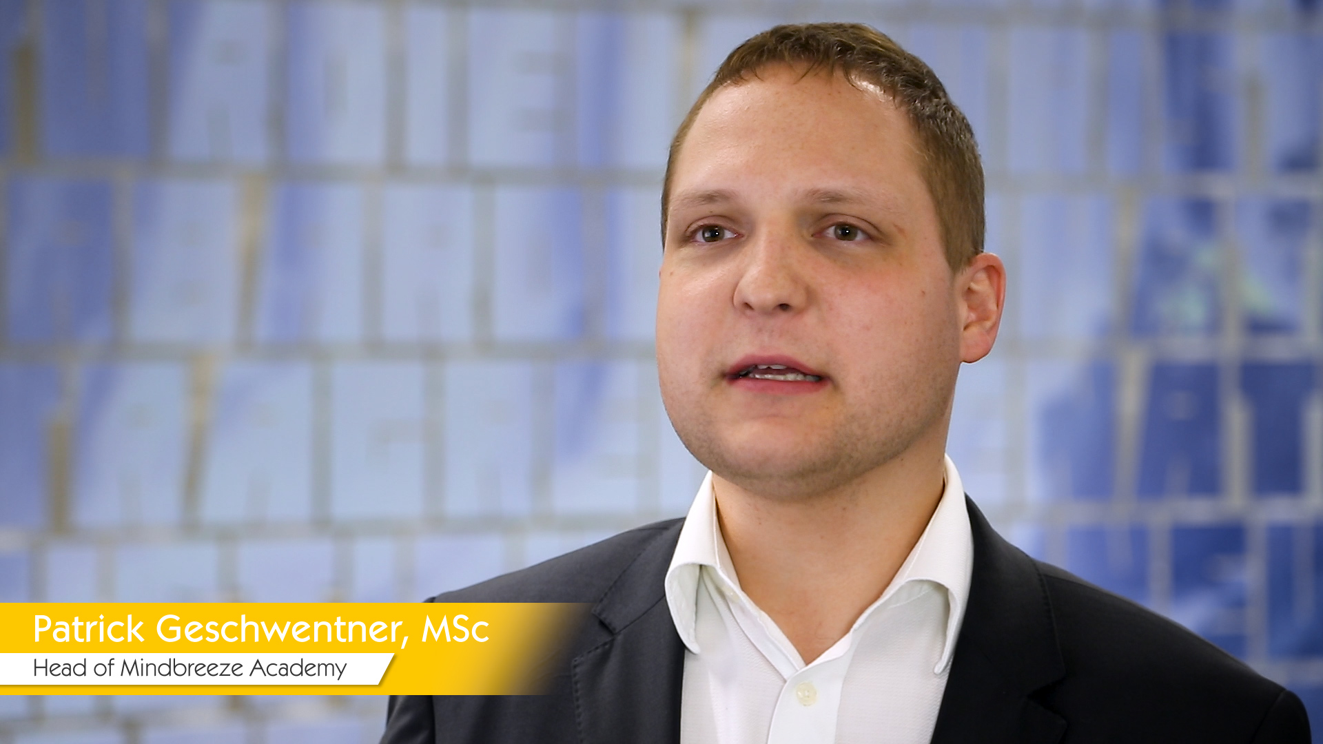 Interview-Video Patrick Geschwentner, Head of Mindbreeze Academy