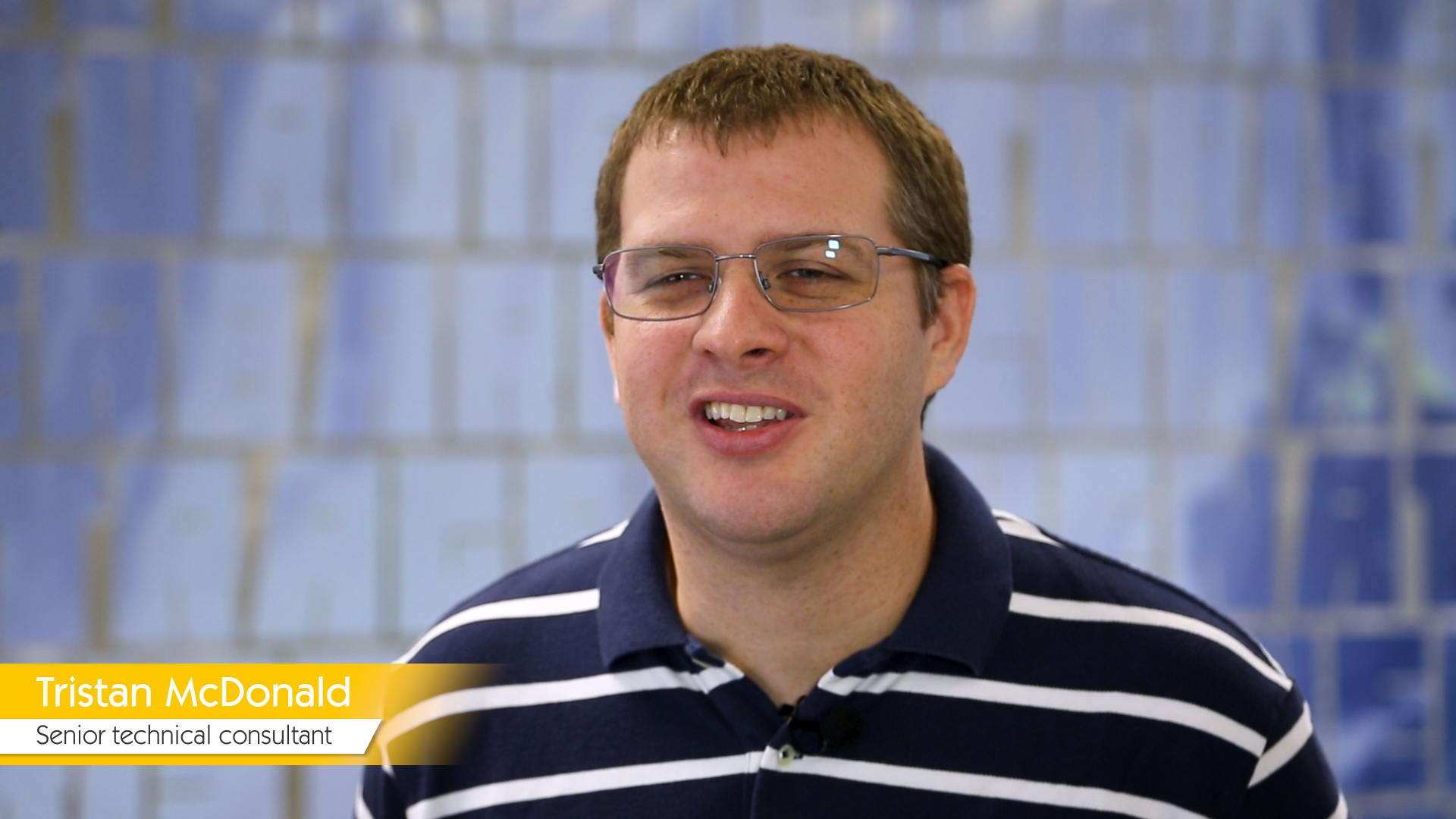 Interview-Video Tristan McDonald, Senior Technical Consultant