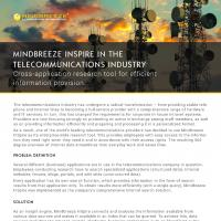 Case Study Mindbreeze InSpire in the telecommunications industry