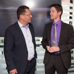 Adolf Sonnleitner mit Michael Rothmann, Stv. CIO Kepler-Klinik