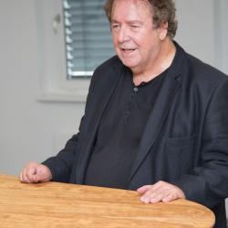 Helmut A. Gansterer bei seiner Rede
