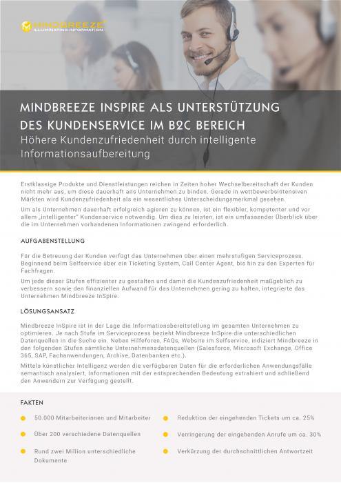 Mindbreeze InSpire im Customer Service