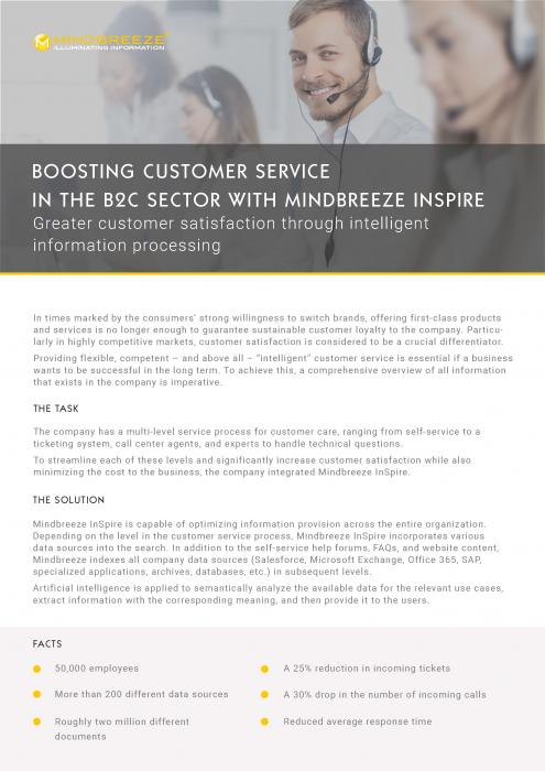 Mindbreeze InSpire in Customer Service